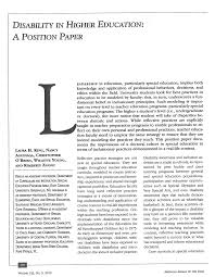 The position paper defines the problems klaytn aims to solve, explaining their nature and suggesting potential solutions that may be implemented to in contrast, klaytn's position paper depicts a vision of the world where the hurdles we face today have been remedied, as to establish a shared sense of. Pdf Disability In Higher Education A Position Paper