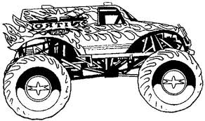 Small Picture Best Monster Truck Coloring Pages 54 5880