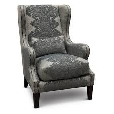gray wingback chair. Classic Gray Wingback Chair - St. James G