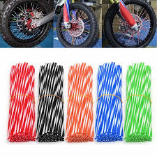 universal motorcycle wheel rim spoke skins covers wrap decor protector kit for ktm 150 125 250 sx 85 17 14 450 exc f 390 duke
