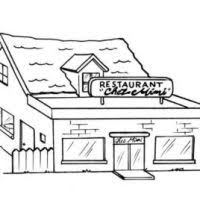 Coloring Books For Restaurants Restaurant Clipart Coloring