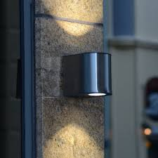 Lutec Gemini Medium W Exterior LED Up And Down Wall Light In - Exterior up down lights