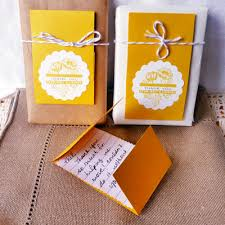 personalized yellow and white combination design foldable creative with  writting inside create ornaments diy thank you