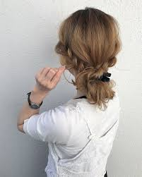 三つ編みだけですぐ完成超簡単まとめ髪アレンジ Hair 簡単