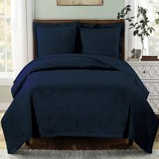 Modern Geometric Navy Blue Quilt Coverlet Set Oversized | Navy ... & Modern Geometric Navy Blue Quilt Coverlet Set Oversized Adamdwight.com