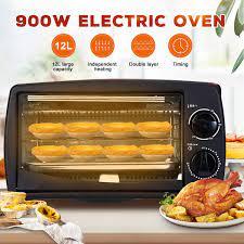 900W 12L Lò Nướng Mini Đa Năng Gia Đình Điện Thông Minh Thời Gian Nhà Bếp  Làm Bánh Nướng Bánh Mì Cánh Gà Nướng 220V|Ovens