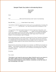thank you letter example for scholarship