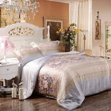 19 momme seamless printed silk charmeuse bedding set snowbedding com