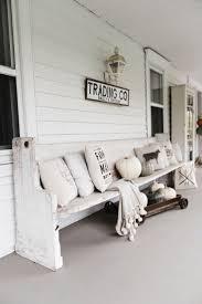 3 white porch bench