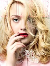 Dakota Fanning's splendid subscribers cover of British Elle captured by David Slijper with styling ... - Dakota-Fanning-Elle-UK-February-2012-01