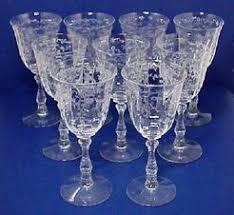 Fostoria Glass Patterns Mesmerizing Fostoria Glass Stemware Navarre Pattern 48 Pieces