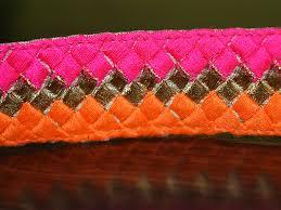Decorative Fabric Trim Decorative Fabric Trim Orange Pink Sari Border
