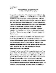 margaret atwood the handmaids tale analysis on chapter xiv  page 1 zoom in