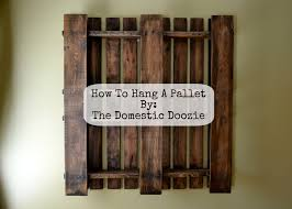 how to hang a pallet
