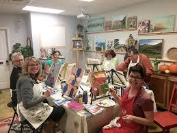 6 week beginner acrylic painting class