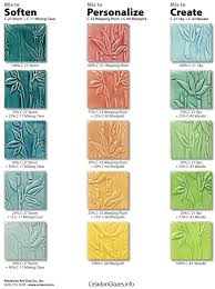 Celadon Color Chart Celadon Glaze Combinations In 2019 Glazes For Pottery