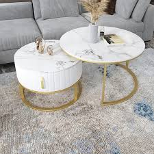 nordic living room round coffee tables