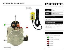 pump wiring diagrams bucher pump to bale spike