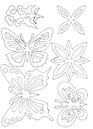 Flower And Butterfly Stencil Designs Butterfly Stencil Or Embroidery Patterns Butterfly