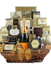 veuve clic chagne gift basket ship to canada and usa