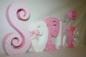 wooden letters for nursery painted
