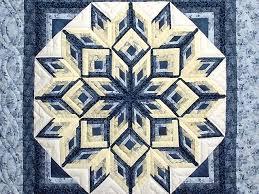 Diamond Log Cabin Quilt -- wonderful skillfully made Amish Quilts ... & ... Blue and Yellow Diamond Log Cabin Throw Photo 2 ... Adamdwight.com