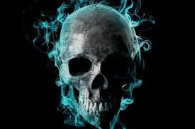 blue skull wallpapers top free blue