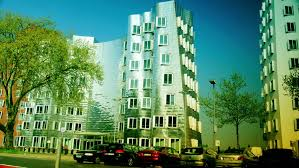 postmodern architecture gehry. DUSSELDORF, GERMANY, May 8: Dusseldorf Harbor Is Home To Some Spectacular Postmodern Architecture, With Contemporary Status Symbols Signifying Corporate Architecture Gehry
