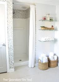 13 creative bathroom organization and diy solutions 4 shower stall curtainsmall