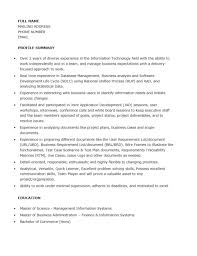 Free Junior Business Analyst Resume Template Sample Ms Word