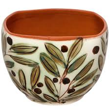 decorative bowls for coffee table hand painted olives 1