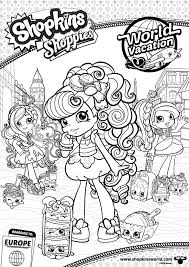 Shopkins Shoppies Coloring Pages At Getcoloringscom Free