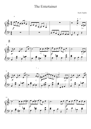 It's best to first follow the piano tutorial, first work out the right hand, then the left hand and combine them only at the end. The Entertainer Sheet Music For Piano Solo Musescore Com