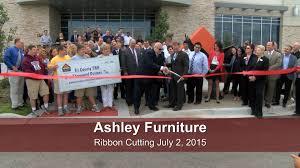 Village of Romeoville Ribbon Cutting 2015 Ashley Furniture