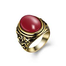 DTZH <b>Rings Jewellery Womens Ring</b> red <b>Enamel</b> Floral <b>Copper</b> ...