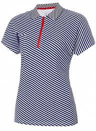 W13210SF-NN181 <b>Рубашка Поло женская</b> (синий/белый), артикул