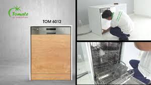 Hướng dẫn lắp đặt Máy rửa chén TOMATE: TOM 6012 và TOM 6014- TOMATE  DISWASHER - YouTube