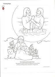 Baptism Coloring Pages In In Page - glum.me