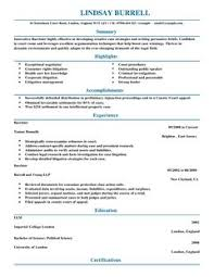 plain text resume examples barrister cv example for law livecareer