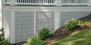vinyl lattice fence panels. Porch Skirting With Dimensions™ White Square Privacy Plastic Lattice Vinyl Fence Panels