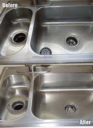 full sink before and after