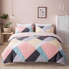 100 cotton duvet cover set geometric