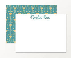 Tribal Double Sided Personalized Custom Stationary Note Card Set