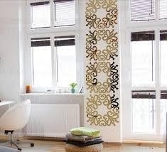 european style creative flower acrylic wall mirror sticker artist 3d decorative mirror sticker 40x40cm