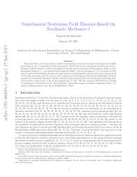 semiclassical newtonian field theories based on stochastic mechanics i pdf available