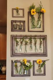 random jars and bottles inside picture frames become seasonal wall art i like the idea of using this for fresh spices in the kitchen  on wall art old picture frames with 21 summer decorating ideas to brighten up modern kitchen decor art