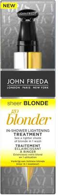 john frieda sheer blonde treatment go blonder in shower lightening treatment 34 ml