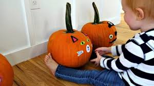 pumpkin decorating for toddlers