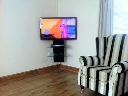 corner tv wall mount with shelves corner wall mount shelf