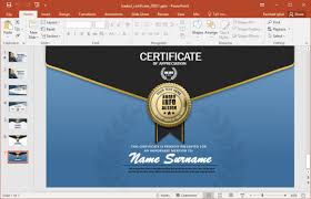 Design Presentation Templates Animated Certificate Design Presentation Template Fppt